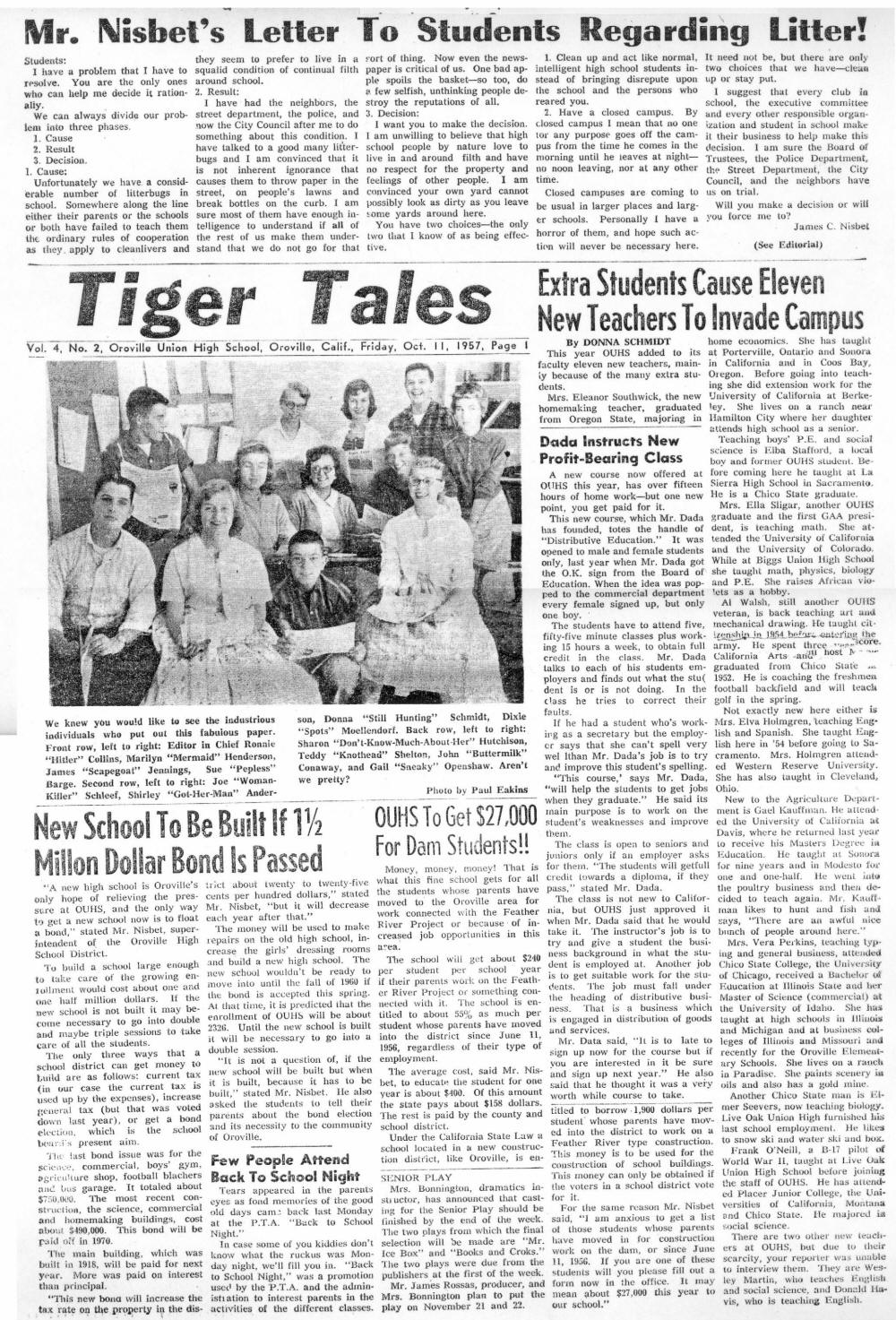 Tiger Tales 11 Oct 57